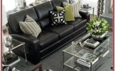 Living Room Decor Ideas With Black Leather Furniture