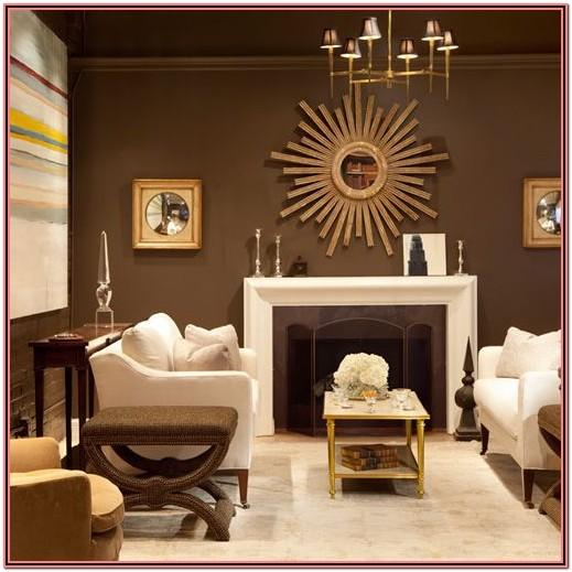 Living Room Decor Ideas With Brown Walls