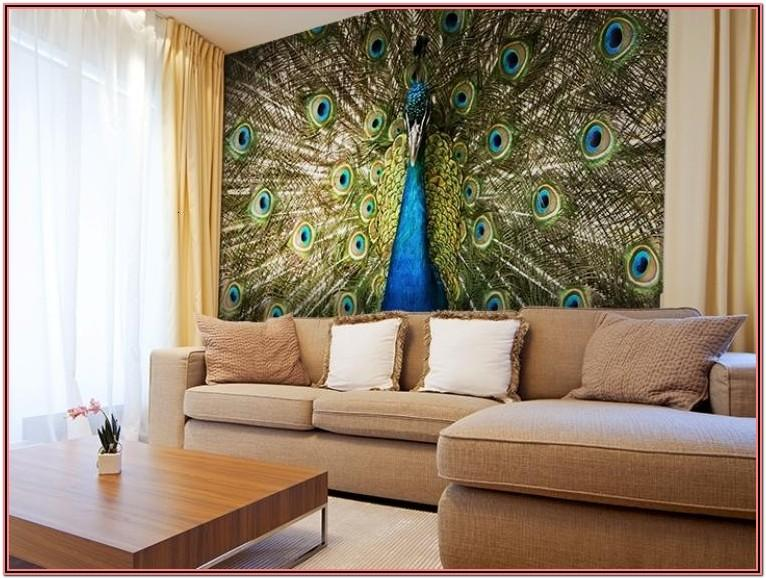 Living Room Decor Ideas With Peacock Frames