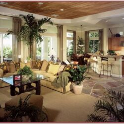 Living Room Decor In Open Concept House
