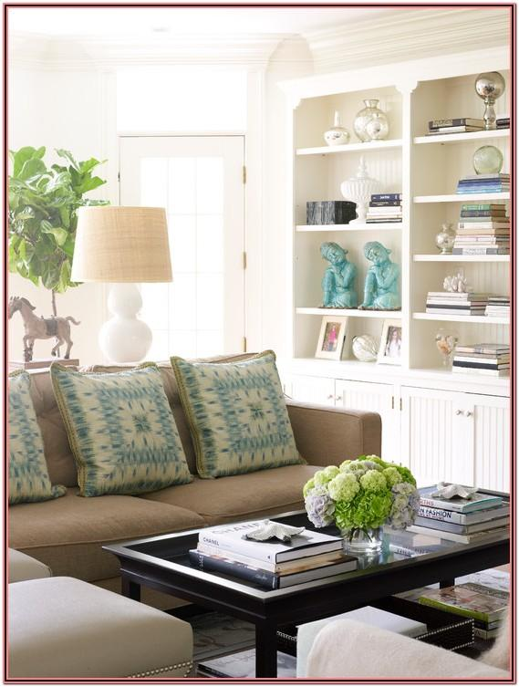 Living Room Decor In Turquois