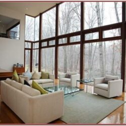 Living Room Decor Large Window