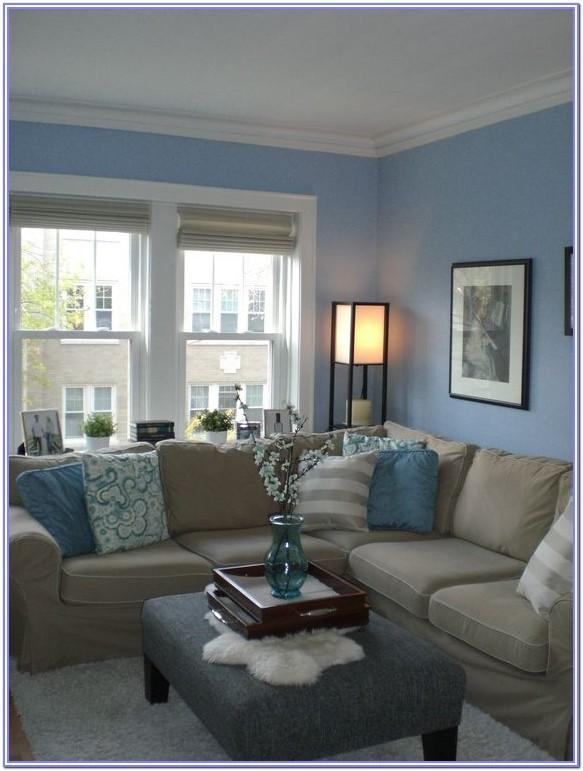 Living Room Decor Light Blue Walls