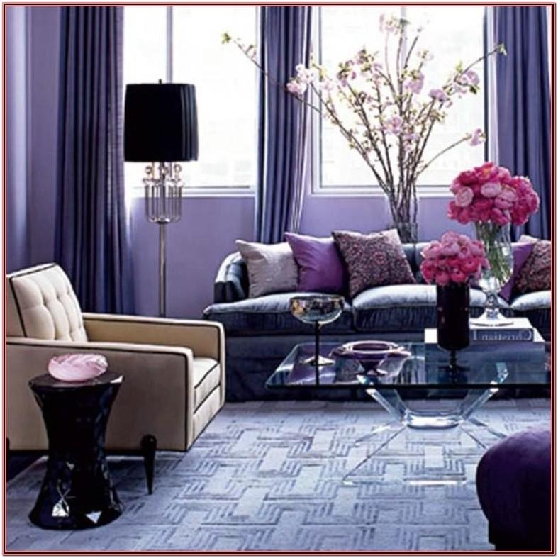 Living Room Decor Purple