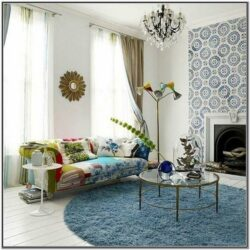Living Room Decor W Round Round Rug