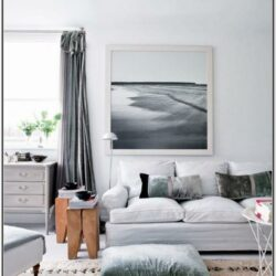 Living Room Decor White And Grey
