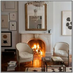 Living Room Decor White Electric Fireplace