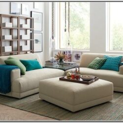 Living Room Decor With A Separated Sectional