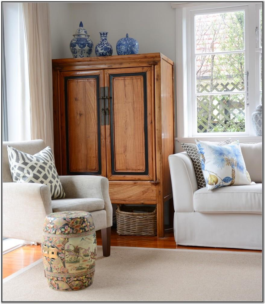 Living Room Decor With Armoire