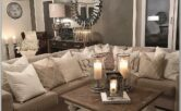 Living Room Decor With Beige And Gray