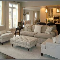 Living Room Decor With Beige Couches