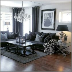 Living Room Decor With Black Furniture