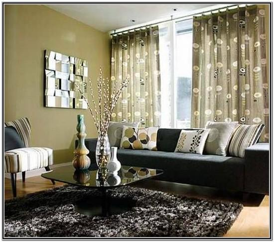 Living Room Decor With Black Leather Couches