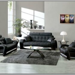 Living Room Decor With Black Sectional
