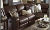 Living Room Decor With Brown Leather Sectional
