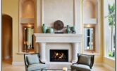 Living Room Decor With Caticorner Fireplace