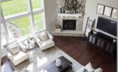 Living Room Decor With Catty Corner Fireplace
