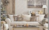 Living Room Decor With Champagne Gold Accessories