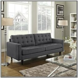 Living Room Decor With Dark Couches