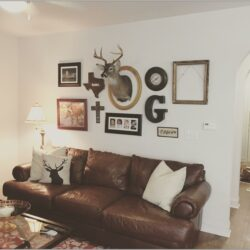 Living Room Decor With Deer Heads
