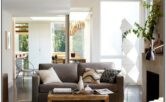 Living Room Decor With Floor Pouf