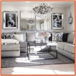 Living Room Decor With Grey Sectional