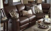 Living Room Decor With Leather Sectional