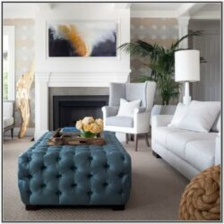 Living Room Decor With Ottoman