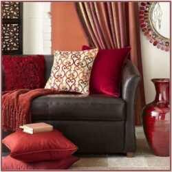 Living Room Decor With Red Curtains
