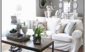Living Room Decor With White Sofas