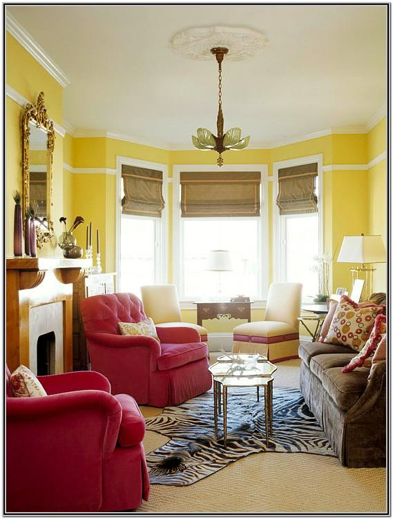 Living Room Decor With Yellow Walls