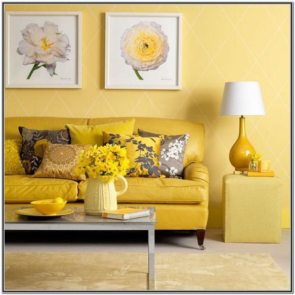 Living Room Decor Yellow And Grey