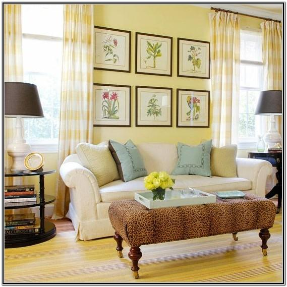 Living Room Decor Yellow Neutral