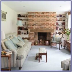 Living Room Decorating Ideas Brick Fireplace