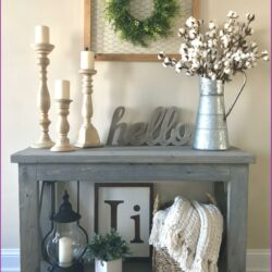 Living Room Entryway Console Table Decor Scaled