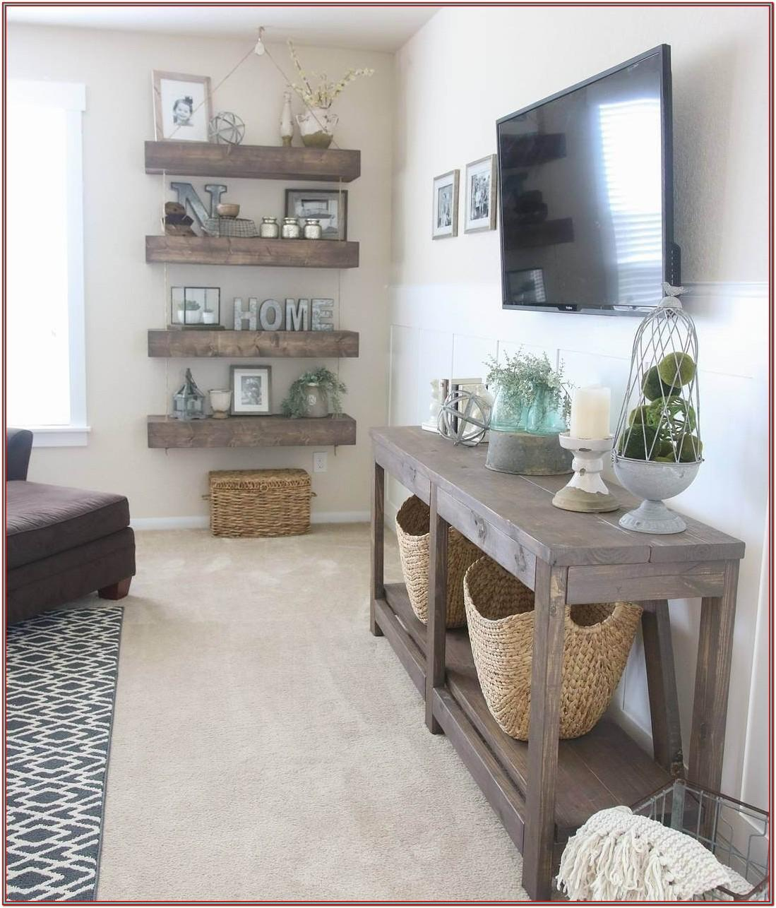 Living Room Farmhouse Shelf Decor
