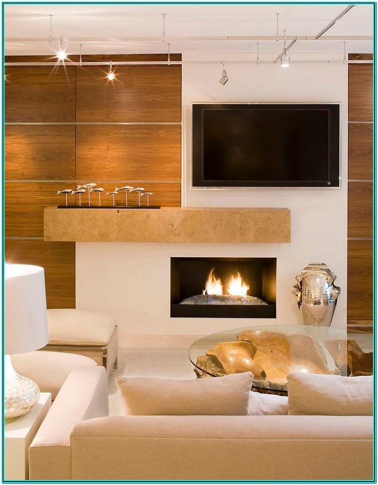 Living Room Fireplace Decor Ideas Modern