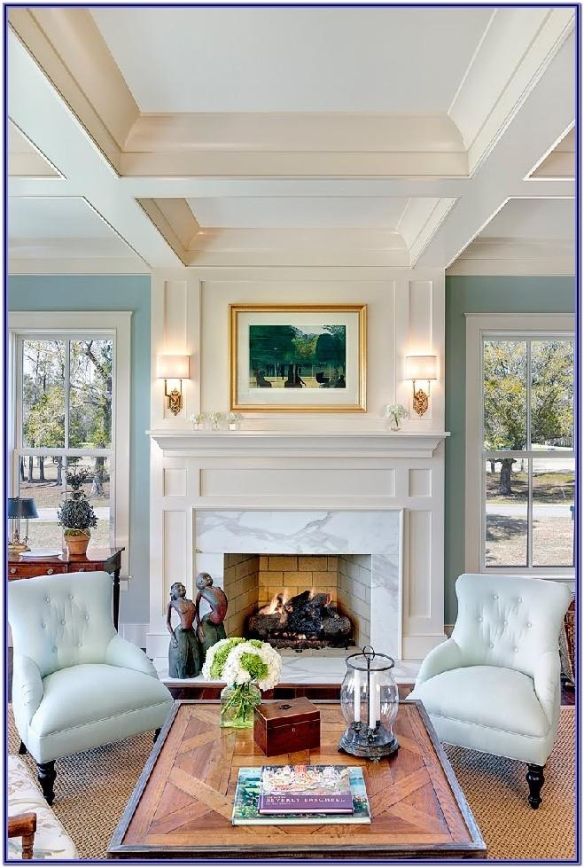 Living Room Fireplace Mantel Decorating Ideas