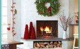 Living Room Fireplace Mantels Christmas Decor Ideas