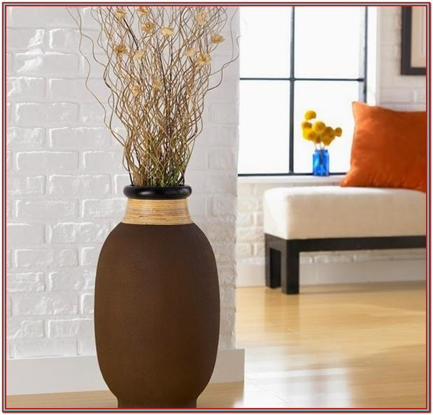 Living Room Floor Vase Decor Ideas