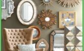 Living Room Gold Mirror Wall Decor