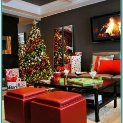 Living Room Houzz Christmas Decor