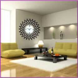 Living Room Large Wall Clock Decorating Ideas