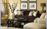Living Room Light Brown Couch Decor