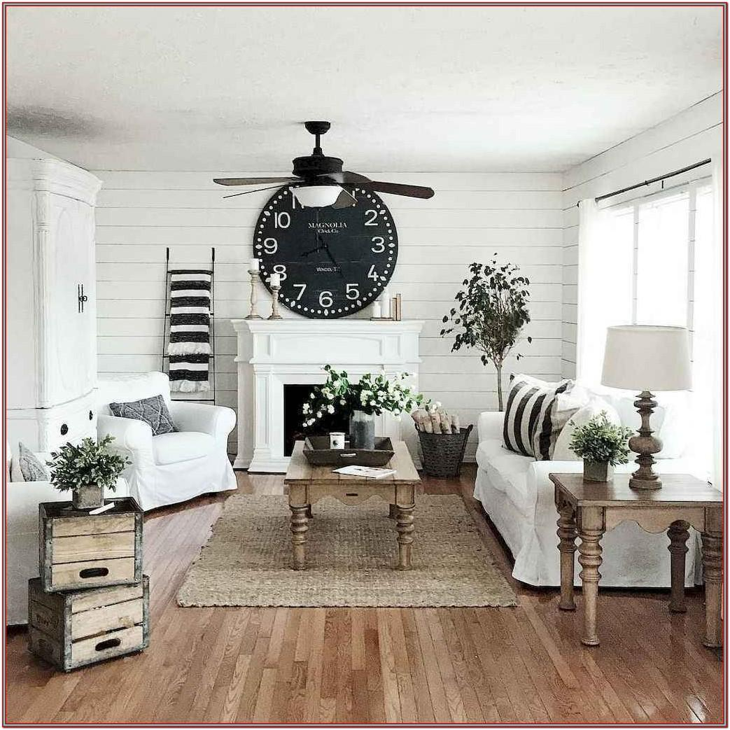 Living Room Modern Farmhouse Style Farmhouse Decor Ideas