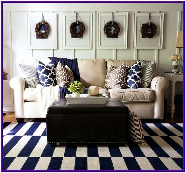 Living Room Navy Blue Home Decor