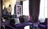 Living Room Purple Home Decor