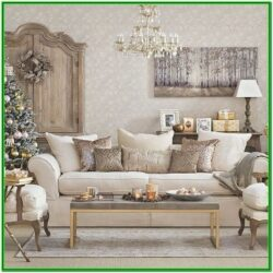 Living Room Silver And Gold Christmas Decorations