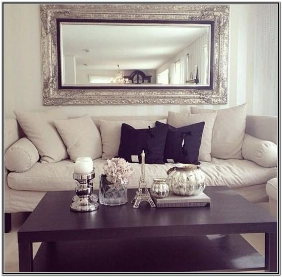 Living Room Square Mirror Wall Decor Ideas