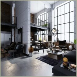 Living Room Vintage Industrial Decor